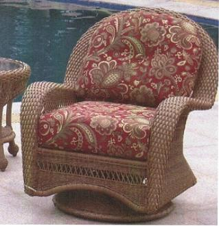 Example chair sitting next to a swimming pool